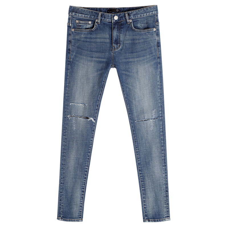 86RJ-1630 embroidery cutting destroyed jeans