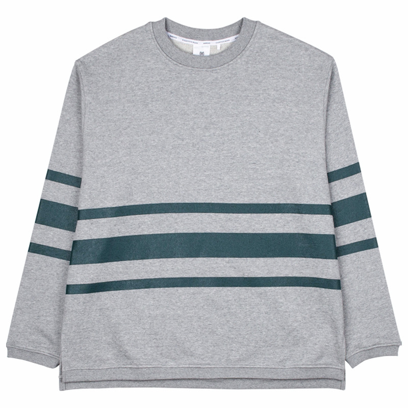86RJ-2702 stripe sweat shirt _grey