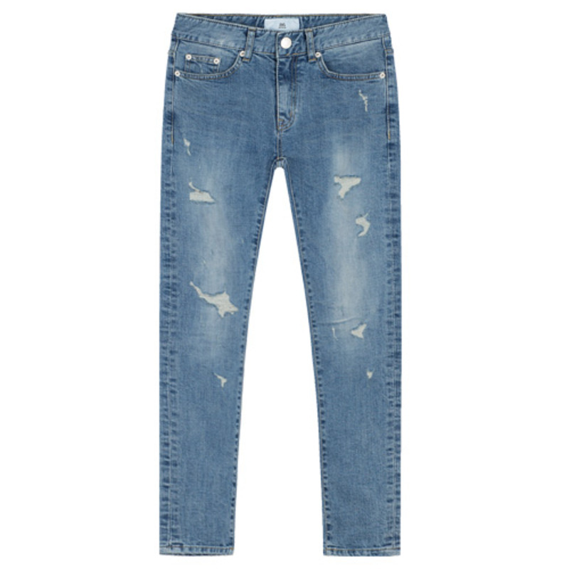 86RJ-1717 superslim damaged jeans
