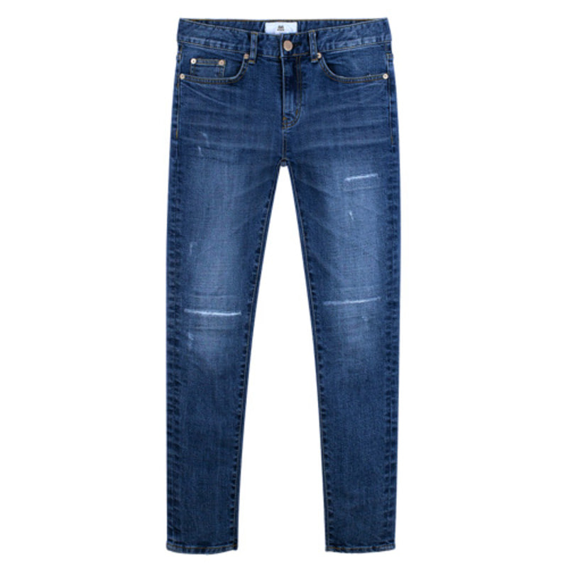 86RJ-1709_simple embroidery jeans