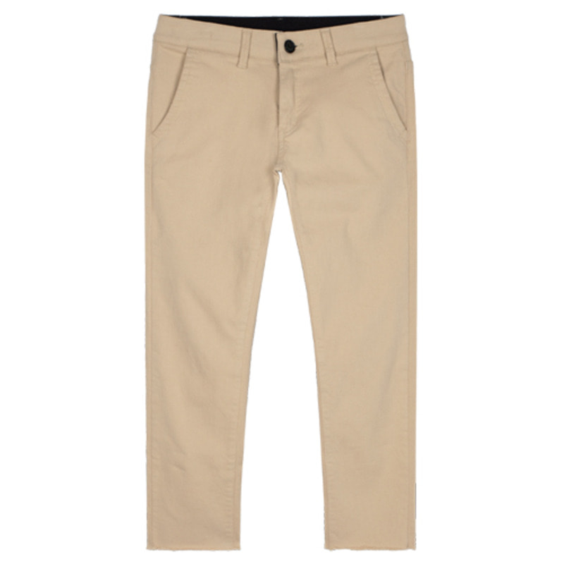 1803 Cutting cotton pants(Beige) / slim