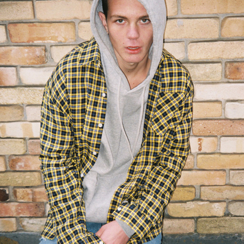 2805 Oversize check shirt(Yellow)