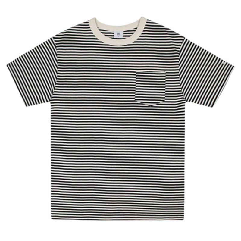 2815 Stripe t-shirts(Black)(32%SALE)