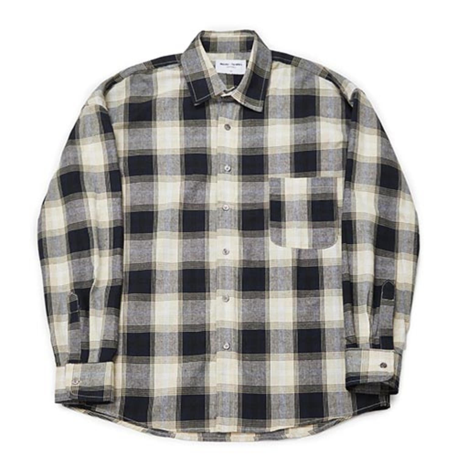 [PARTIMENTO x 86]Semiover Plaid Check Shirts (Beige)(20%SALE)
