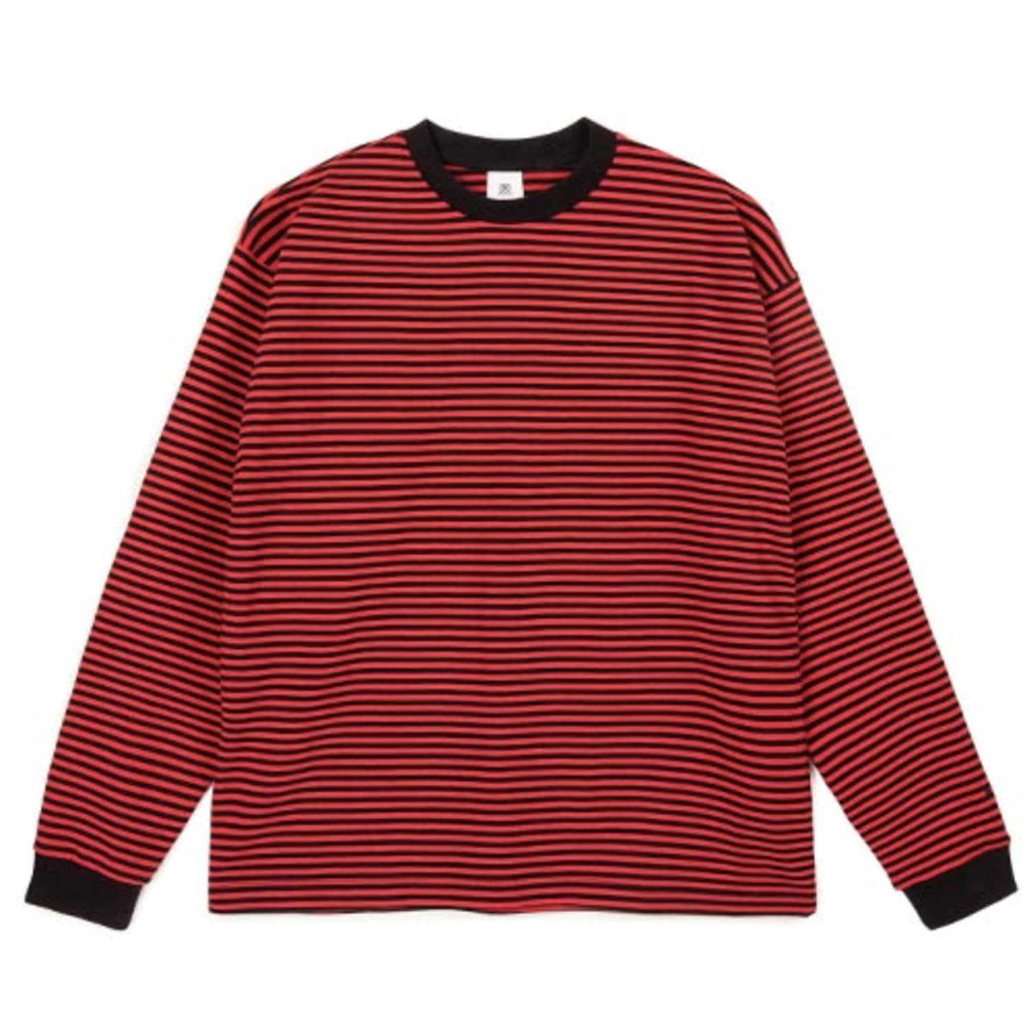 2809 Stripe t-shirt(Red)(40%SALE)