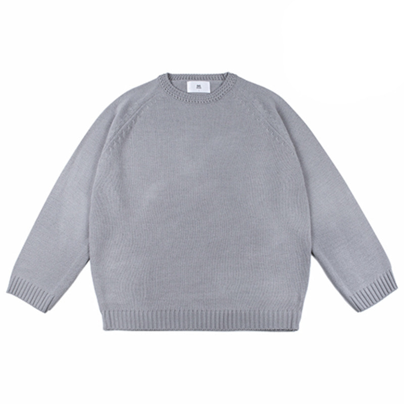 86RJ-2711 loose basic knit _grey(70%SALE)