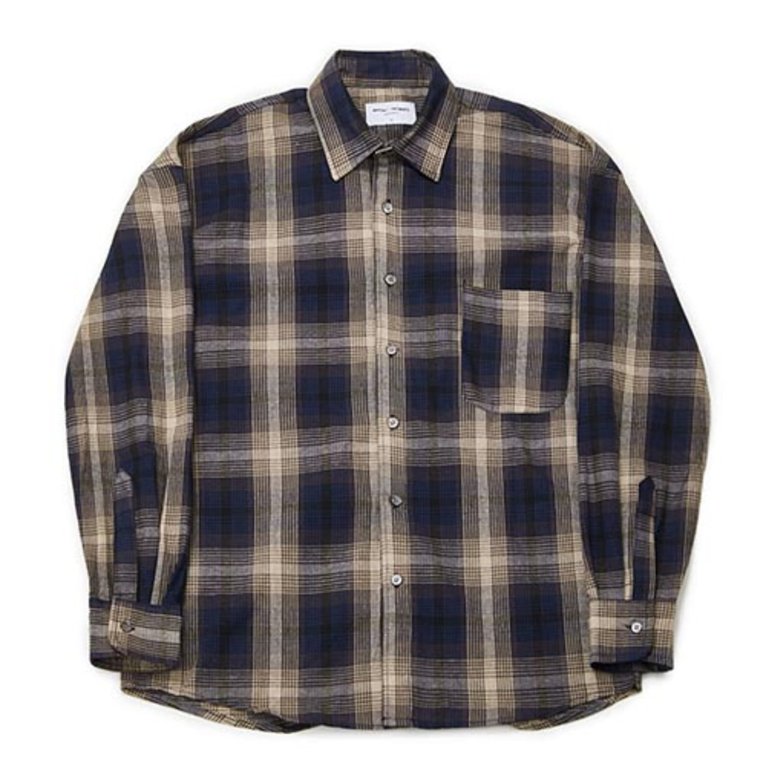 [PARTIMENTO x 86]Semiover Plaid Check Shirts (Navy)(20%SALE)