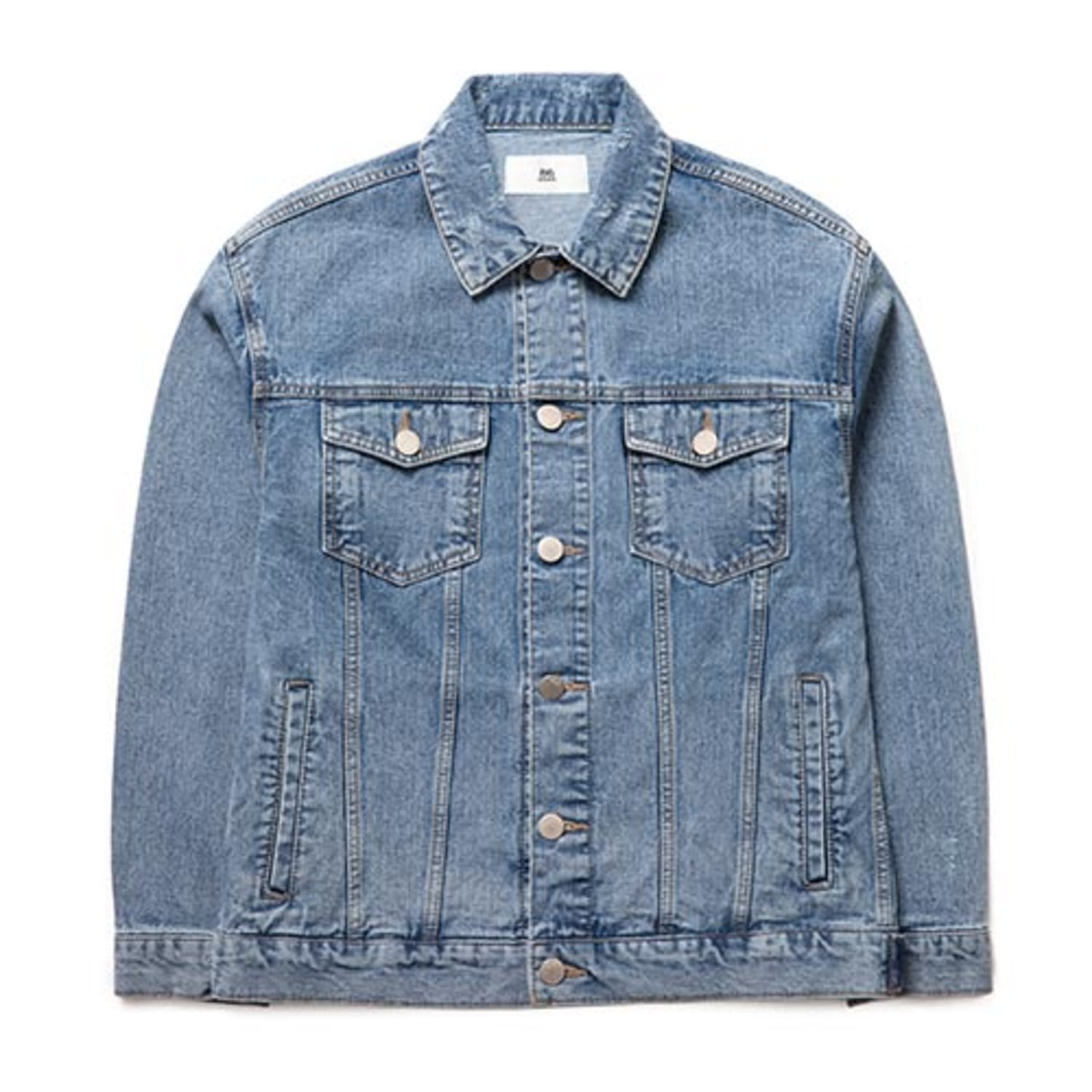2826 Damage Stone Washing Denim Jacket (Blue Gray)(20%SALE)