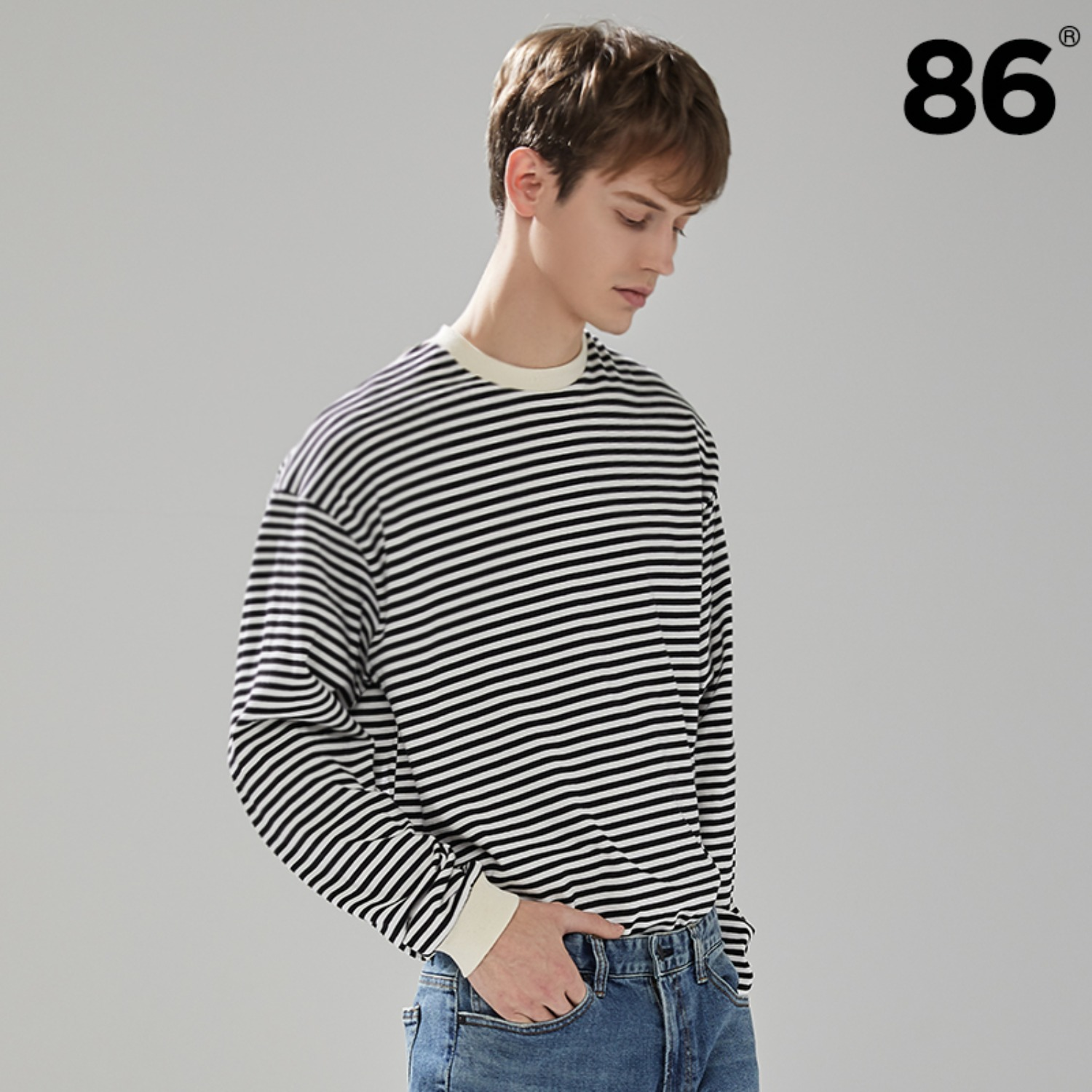 [BEST] 2809 Stripe t-shirt(Black)
