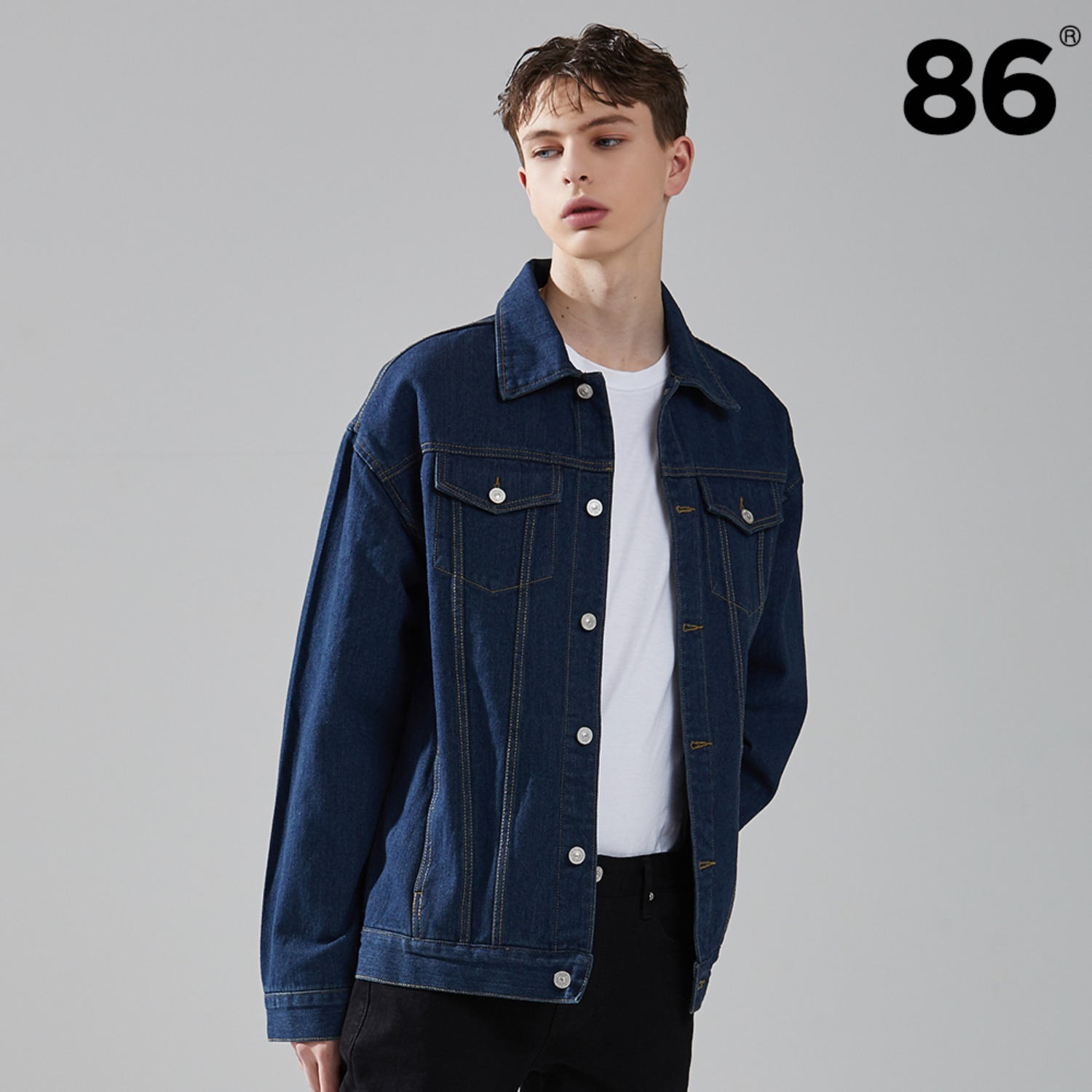 2724 Washing denim jacket (Blue)