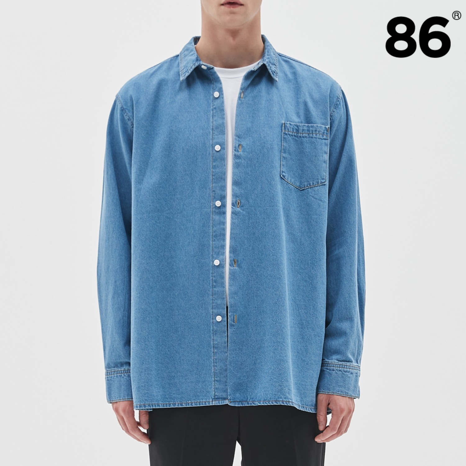 BASIC DENIM SHIRTS BLUE