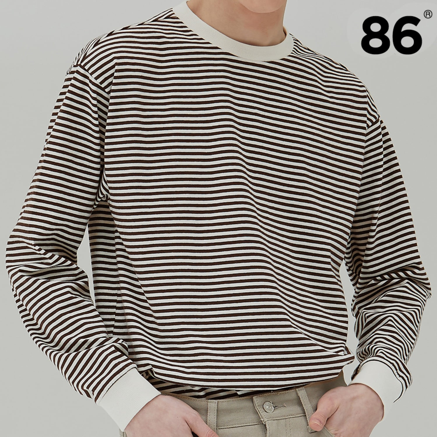 (20SS 신상) 2809 Stripe t-shirt (BROWN)