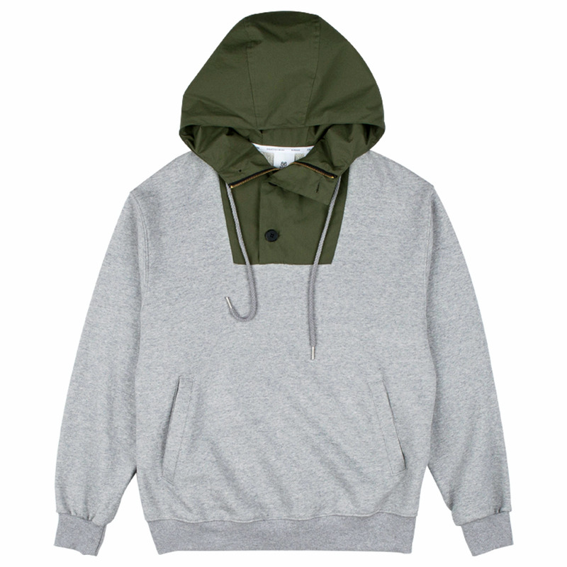 86RJ-2703 basic anorak  _grey(71%SALE)