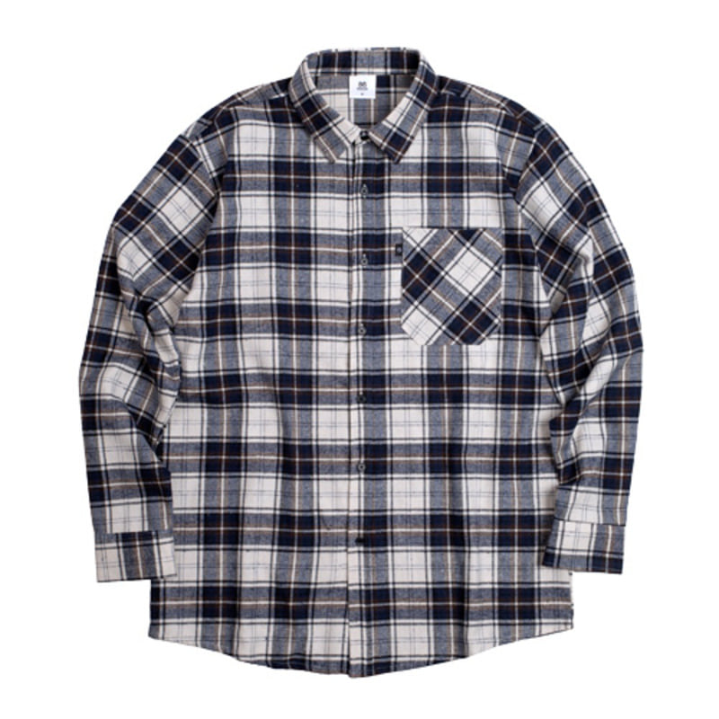 2721 Flannel check shirts (Navy)