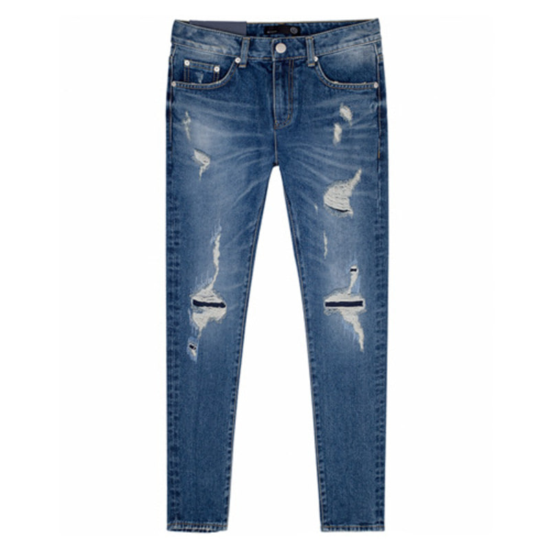 86RJ_1671 latex embroidery jeans(20%SALE)