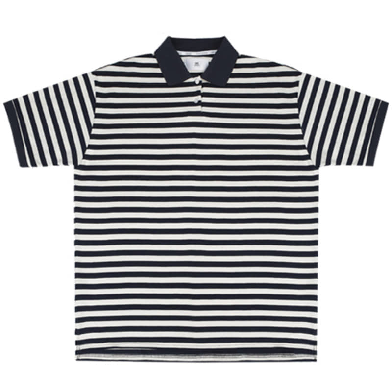 2820 Stripe pique t-shirts(Ivory)