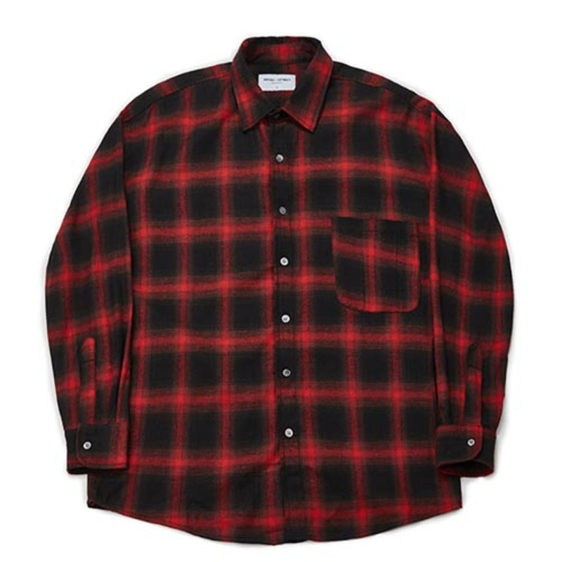 [PARTIMENTO x 86]Semiover Flannel Check Shirts (Red)(20%SALE)