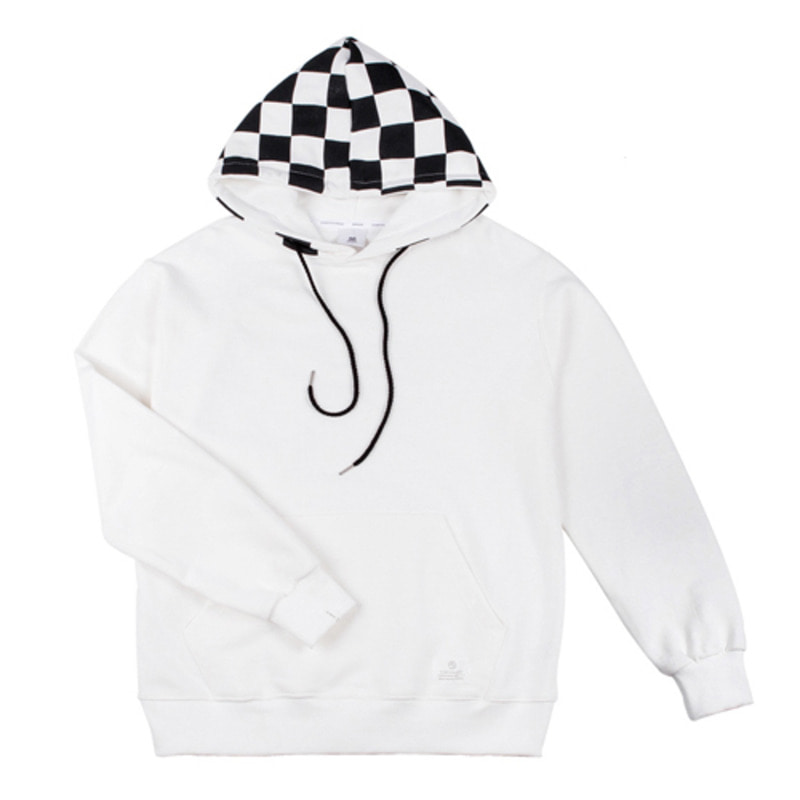 86RJ-2709 hood check point hoody _white(71%SALE)