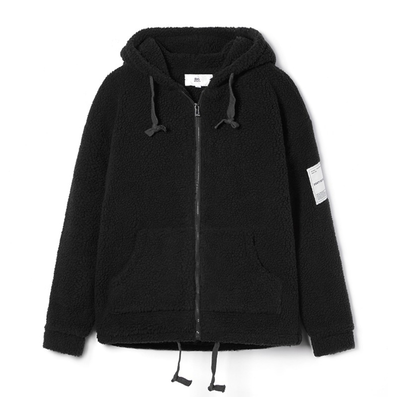 BOA HOOD ZIP-UP(Black)(50%SALE)