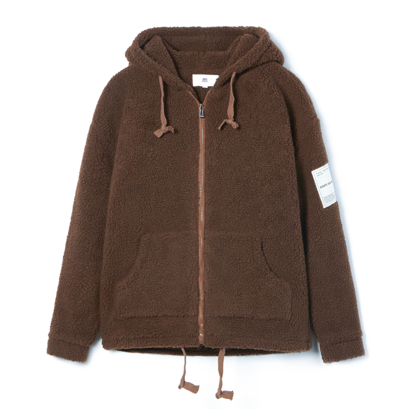 BOA HOOD ZIP-UP(Brown)(50%SALE)