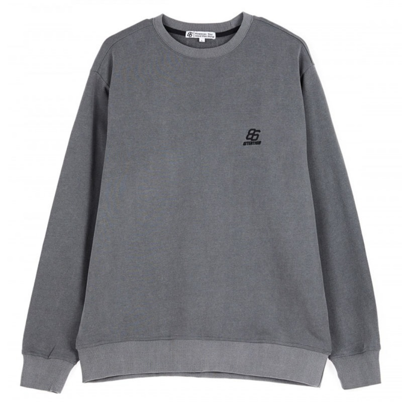EFFECT DYED SWEATSHIRTS CHARCOAL (special coupon)