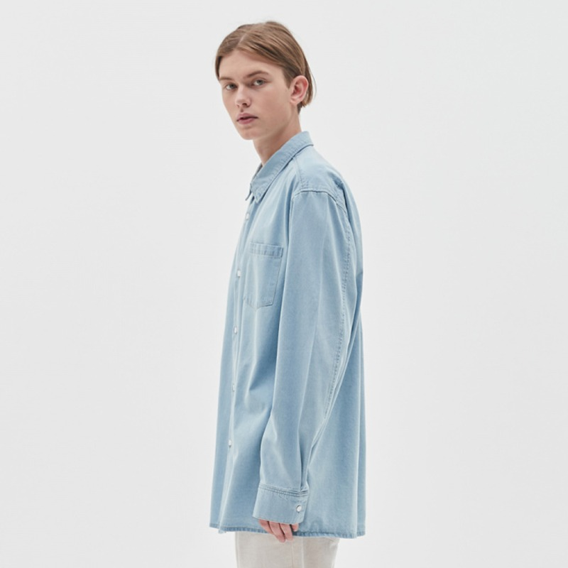 BASIC DENIM SHIRTS (2color)