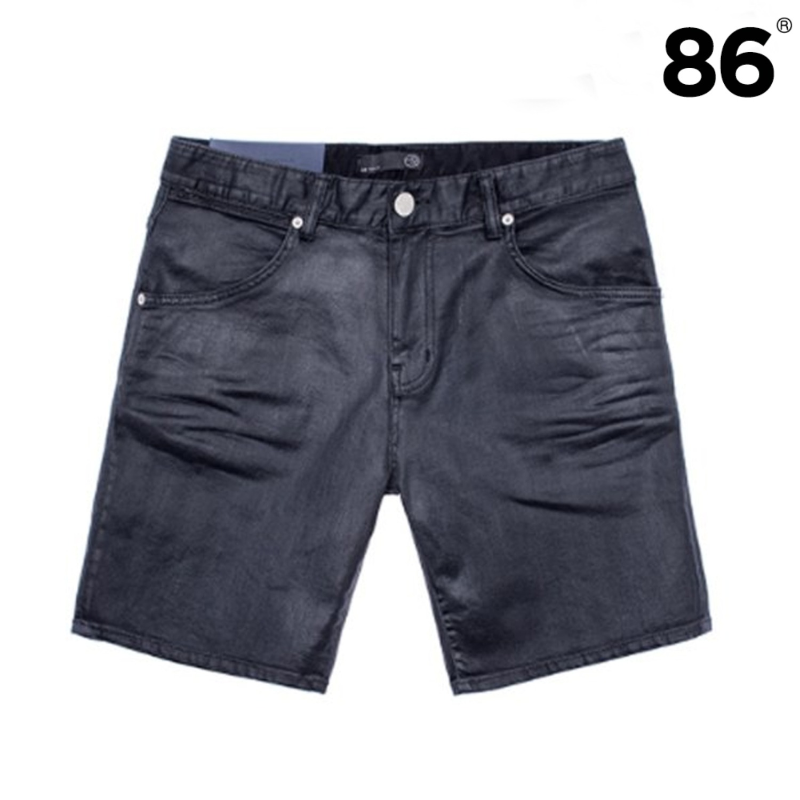 86RJ-1614 Hand coating black shorts