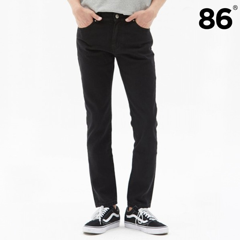 [BEST]1672 basic black jeans(black) / slim