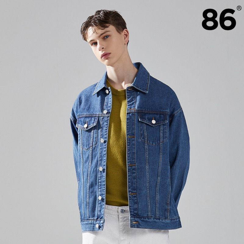 2724 WASHING DENIM JACKET (MID BLUE)
