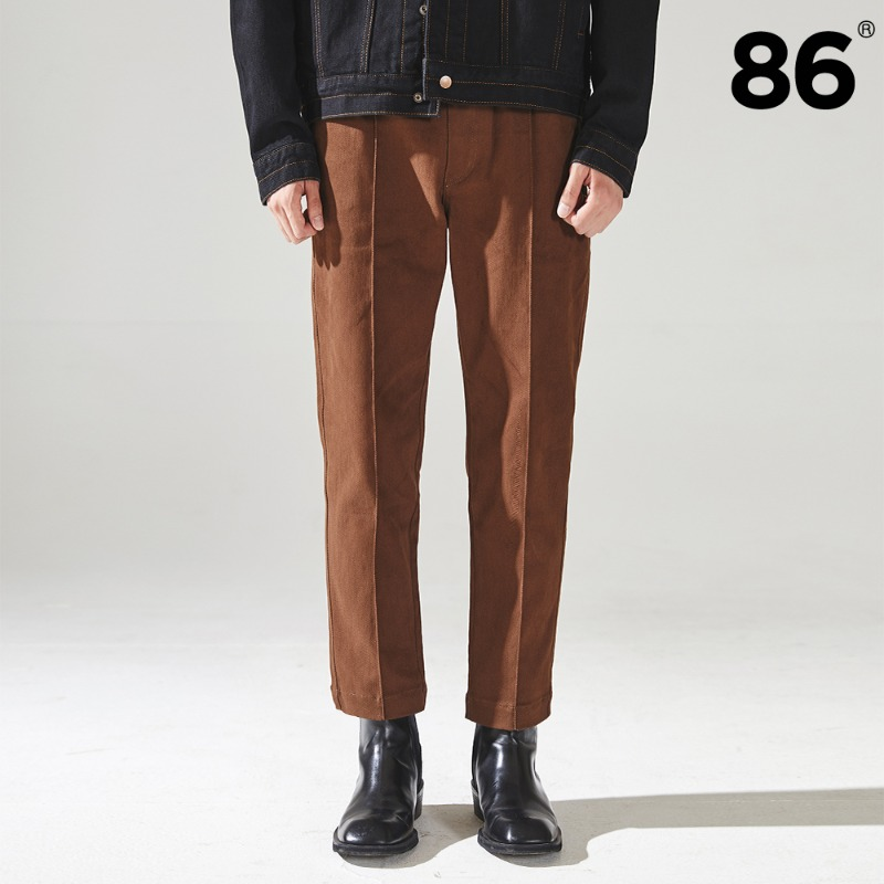 (20FW NEW) TAPERED BANDING PANTS BROWN