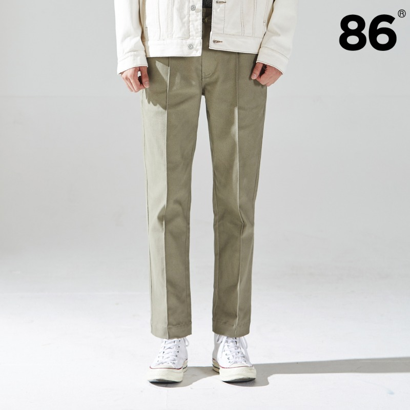 (20FW NEW) TAPERED BANDING PANTS BEIGE
