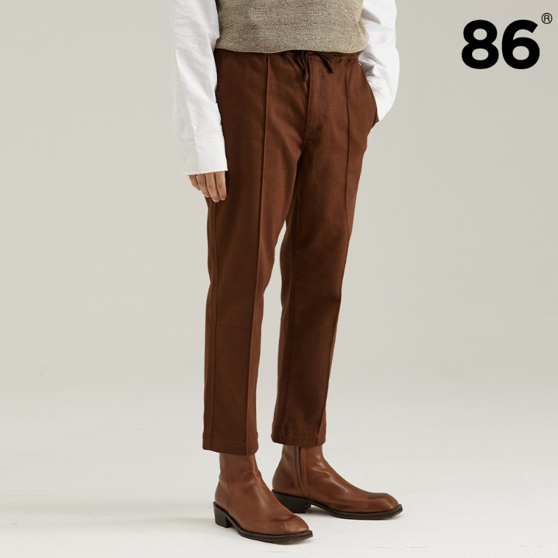 TAPERED BANDING PANTS BROWN