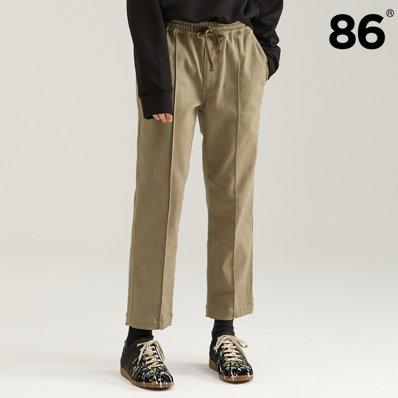 TAPERED BANDING PANTS BEIGE