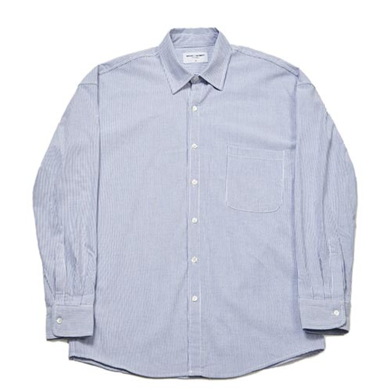 Semiover Stripe Shirts (Navy)