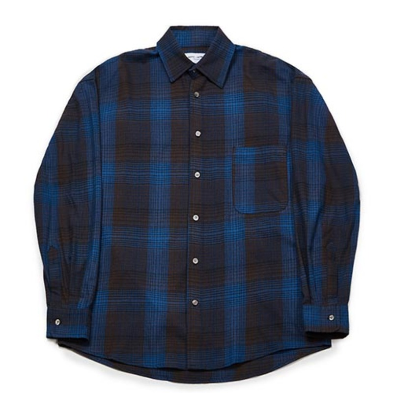 Semiover Basic Check Shirts (Blue)